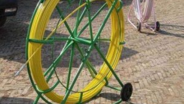 Fiberglass duct rodder allow the cable to pass through the pipe